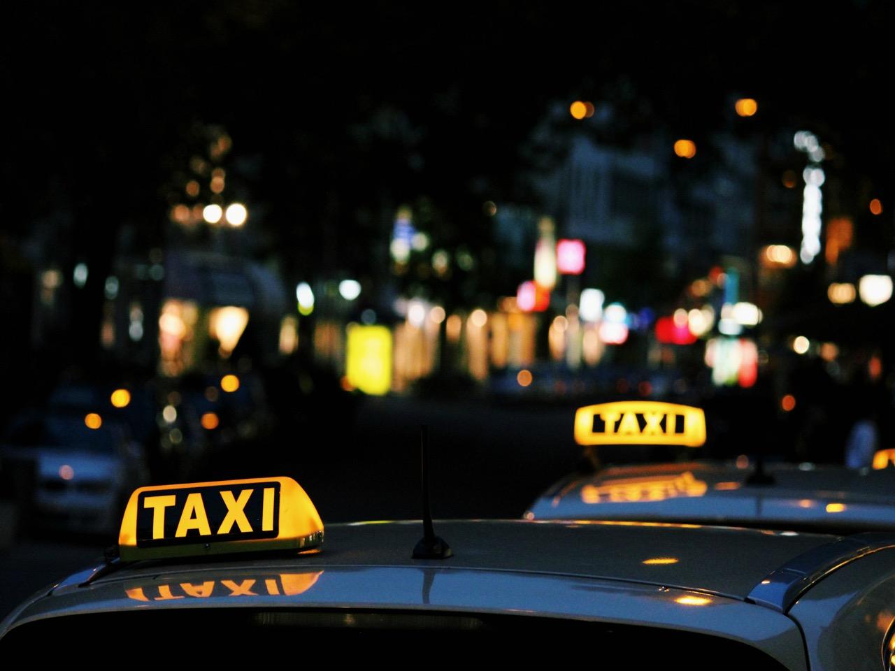 Taxi Car Night